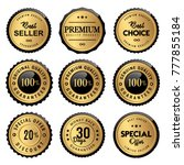 luxury gold labels seal and... | Shutterstock .eps vector #777855184
