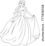 vector illustration  coloring ... | Shutterstock .eps vector #777858538