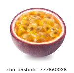 isolated passion fruit   a half ... | Shutterstock . vector #777860038