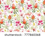 watercolor tropical  pattern  ... | Shutterstock . vector #777860368