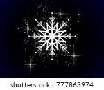 luxury white snowflake on black ...   Shutterstock .eps vector #777863974
