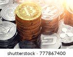huge stack and piles of... | Shutterstock . vector #777867400