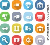 flat vector icon set   delivery ... | Shutterstock .eps vector #777869806
