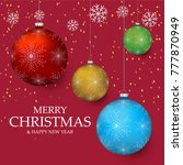 christmas light vector... | Shutterstock .eps vector #777870949