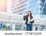 successful business woman... | Shutterstock . vector #777871039
