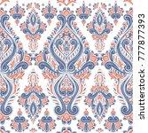 blue and orange ornamental...   Shutterstock .eps vector #777877393