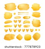 set of golden shining brush... | Shutterstock . vector #777878923