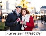 senior couple on an outdoor... | Shutterstock . vector #777880678