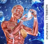 3d medical background with a... | Shutterstock . vector #777888094