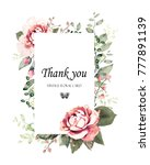 floral frame with leaves.... | Shutterstock . vector #777891139