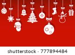 christmas hanging ornaments... | Shutterstock .eps vector #777894484