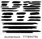 collection of hand drawn grunge ... | Shutterstock .eps vector #777894790