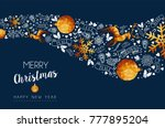 merry christmas greeting card... | Shutterstock .eps vector #777895204