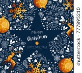 merry christmas greeting card... | Shutterstock .eps vector #777895210