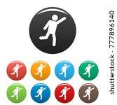 stick figure stickman icons set ... | Shutterstock . vector #777896140