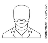 man avatar icon. thin line...