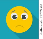 sad smile icon.  flat... | Shutterstock . vector #777899548