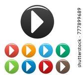 arrow icons set. simple... | Shutterstock . vector #777899689
