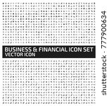 business and finance icon set... | Shutterstock .eps vector #777900634