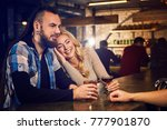 evening at the bar. romantic... | Shutterstock . vector #777901870