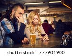 evening at the bar. romantic... | Shutterstock . vector #777901900