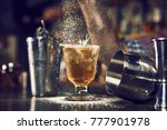 evening at the bar. cocktail on ...   Shutterstock . vector #777901978