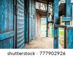 Wild West Blue  Wooden...