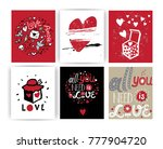 a set of postcards  or posters... | Shutterstock .eps vector #777904720