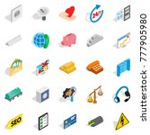 trust icons set. isometric set... | Shutterstock .eps vector #777905980