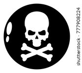 danger icon. simple... | Shutterstock .eps vector #777908224