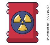 barrel danger icon. cartoon... | Shutterstock .eps vector #777910714