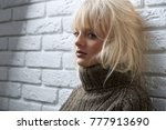 blonde haired beautiful young... | Shutterstock . vector #777913690