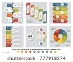 collection of 6 design colorful ... | Shutterstock .eps vector #777918274