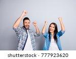 portrait of young caucasian ... | Shutterstock . vector #777923620