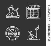 fitness chalk icons set.... | Shutterstock .eps vector #777924946