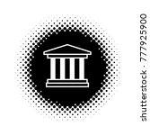 vector black and white... | Shutterstock .eps vector #777925900