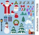lantern gifts christmas tree...   Shutterstock .eps vector #777927838