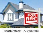 home for rent. sign in front of ... | Shutterstock . vector #777930703