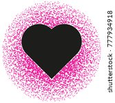 black and pink valentine.... | Shutterstock .eps vector #777934918