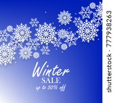 blue winter background with... | Shutterstock .eps vector #777938263