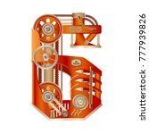 arabic numeral 6  made in the...   Shutterstock .eps vector #777939826