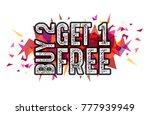 "word ""buy 2 get 1 free"" on... | Shutterstock .eps vector #777939949"