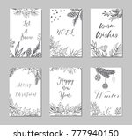 new year and merry christmas... | Shutterstock .eps vector #777940150