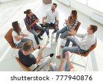 creative team holds a meeting... | Shutterstock . vector #777940876