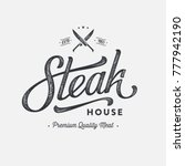steak house or meat store... | Shutterstock .eps vector #777942190