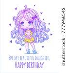 cute vector illustration.... | Shutterstock .eps vector #777946543
