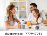 family  eating and people... | Shutterstock . vector #777947056