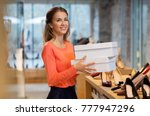sale  shopping and people... | Shutterstock . vector #777947296
