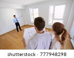 mortgage  people and real... | Shutterstock . vector #777948298