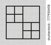 vector frames photo collage for ... | Shutterstock .eps vector #777950458